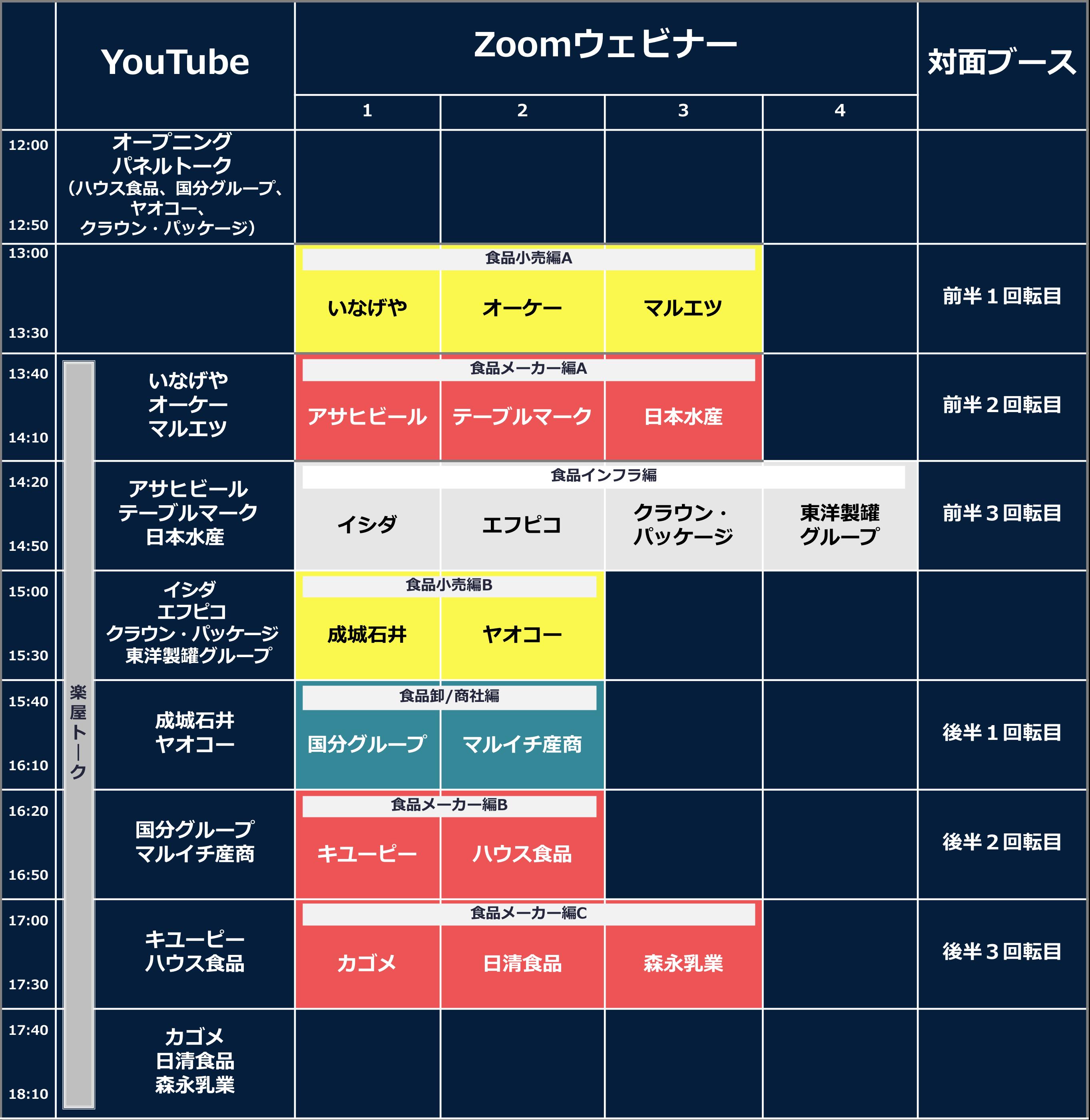 七夕イベント タイムスケジュール