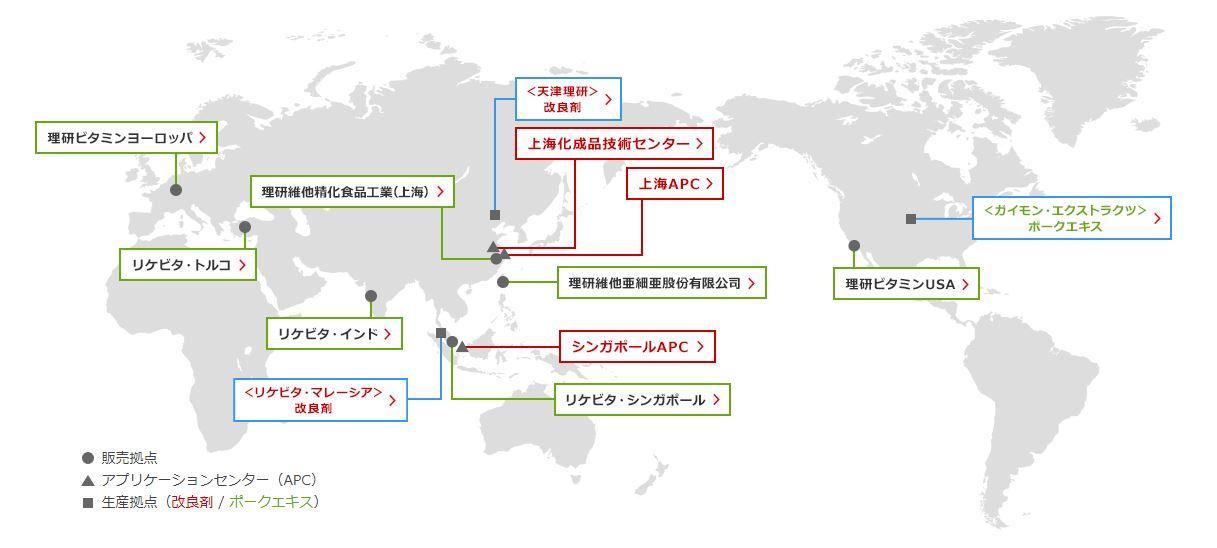 理研ビタミン 海外展開 世界の理研ビタミン